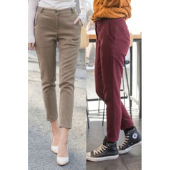 migunstyle - Flat-Front Dress Pants