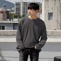 Seoul Homme - Boxy-Fit Round-Neck Long-Sleeve T-Shirt