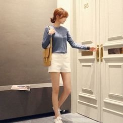 NANING9 - Zip-Front Side-Pocket Shorts
