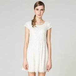 O.SA - Cap-Sleeve Lace Dress