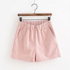Lemon Town - Elastic Waist Shorts