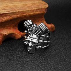 Andante - Titanium Steel Skull Ring