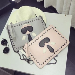 Pandabada - Studded Clutch with Chain Strap