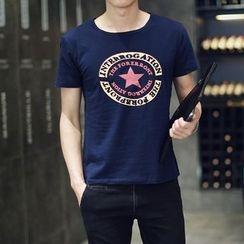 Seoul Boy - Star Print Short-Sleeve T-Shirt