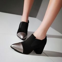 Kireina - Faux-Suede Ankle Boots