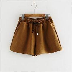 舒然衣社 - 抽绳短裤