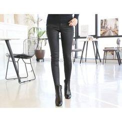 DANI LOVE - Wet-Look Skinny Pants