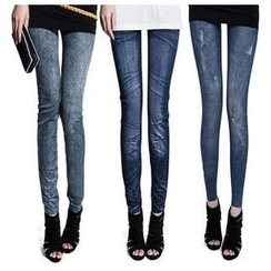 Hyoty - Mock Denim Leggings