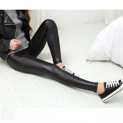 Cotton Dream - Faux Leather Leggings