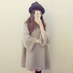 Melon Juice - Chunky Knit Long Sweater