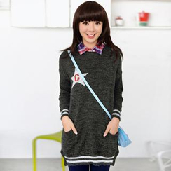 59 Seconds - Letter 'C' and Star Pattern Sweater Dress
