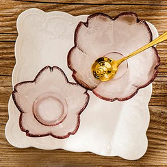 Show Home - Floral Glass Dish / Spoon