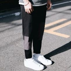 YIDESIMPLE - Patchwork Tapered Pants
