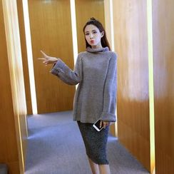 Shatan - Turtleneck Long Sweater