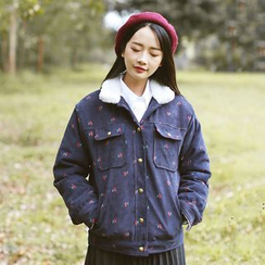 Sens Collection - Cherry Print Corduroy Jacket