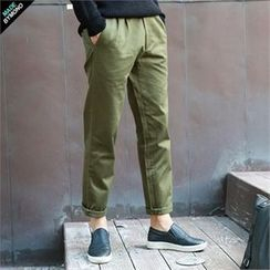BYMONO - Pleated Straight-Cut Chino Pants