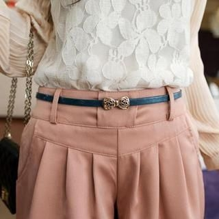 Cuteberry - Bow-Accent Slim Belt