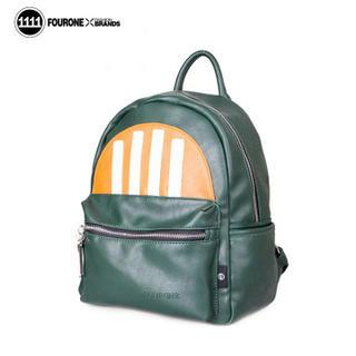 Fourone - Faux Leather Color Block Backpack