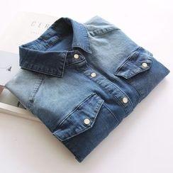 Bonbon - Long-Sleeve Denim Shirt