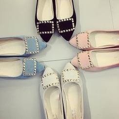 AIKE - 鉚釘平跟鞋