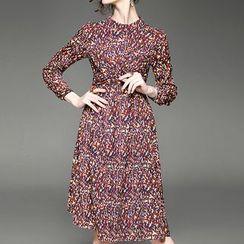 Alaroo - Print Long Sleeve A-Line Dress