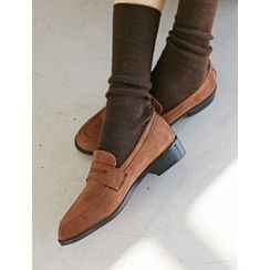 FROMBEGINNING - Faux-Suede Loafers