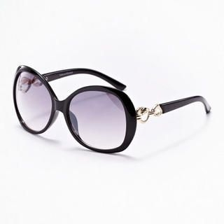 Moonbasa - Metal Leopard Accent Sunglasses