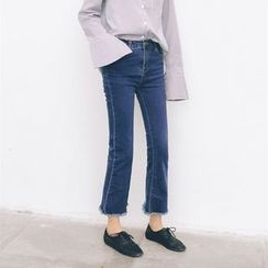 Porta - Cropped Boot Cut Jeans