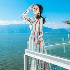 Romantica - Long-Sleeve Striped Dress
