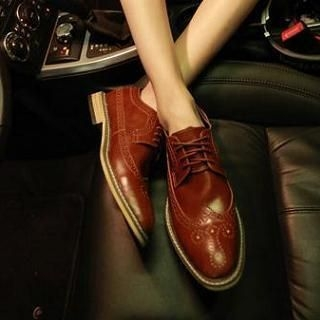 JUN.LEE - Wingtip Perforated Oxfords