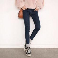 Seoul Fashion - Brushed Fleece Lined Skinny Jeans