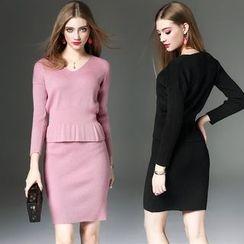 Queen Mulock - Set: Knit Top + Skirt