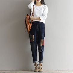 Sienne - Applique Loose-fit Jeans