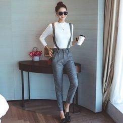 Shiga - Check Suspender Pants