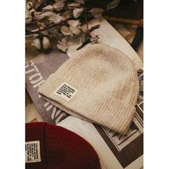 GOROKE - Lettering-Patch Wool Blend Knit Beanie