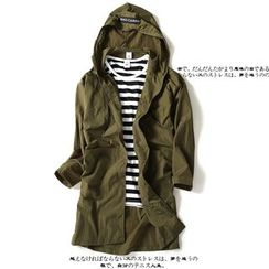 RIVOLO - Plain Hooded Jacket