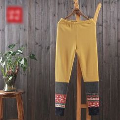 aerokiss - Patterned Panel Leggings