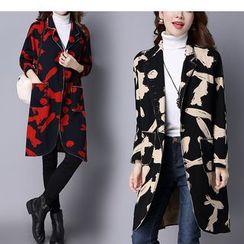 One2One - Print Fray Knit Jacket