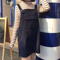 Eva Fashion - 燈芯絨吊帶裙
