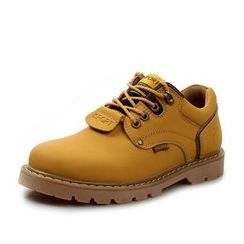 EnllerviiD - Genuine-Leather Casual Shoes