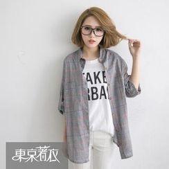 Tokyo Fashion - Long-Sleeve Plaid Shirt