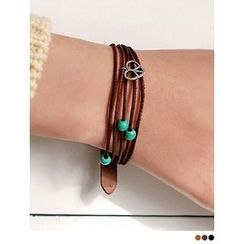 PINKROCKET - Genuine Leather Turquoise Bracelet