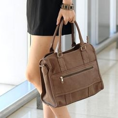 59th Street - Faux Leather Shoulder Bag