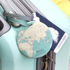 Full House - Indigo - Map Luggage Tag