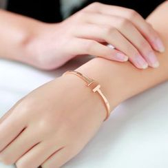 LoveGem - 18K Gold Open Bangle
