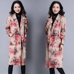 Yeeya - 碎花长款西装外套