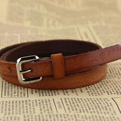 Charm n Style - Embossed Genuine Leather Belt