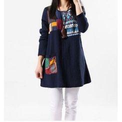 Splashmix - Long-Sleeve Panel Dress