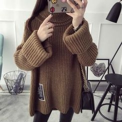 Qimi - 高領粗織毛衣