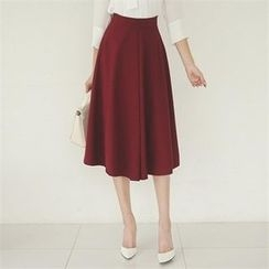 ode' - A-Line Midi Skirt